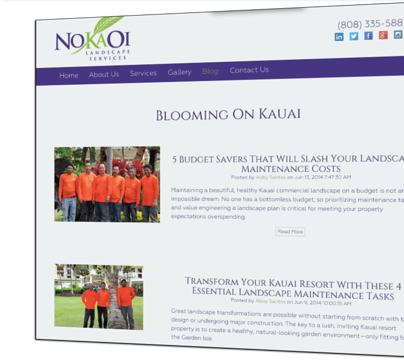 Starting a blog for landscaping, lawn care or tree service companies.