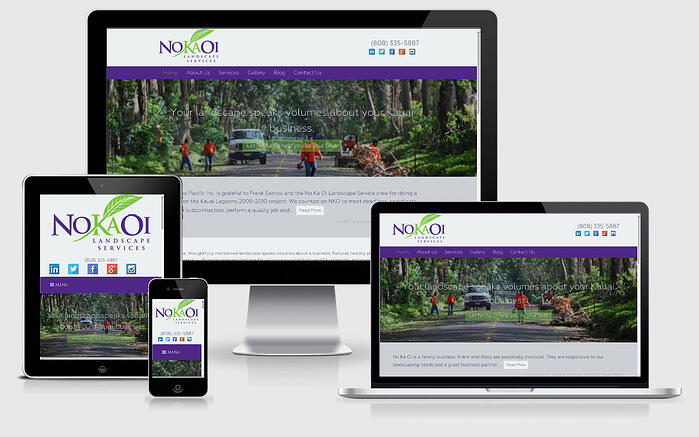 responsive design example no ka oi landscaping