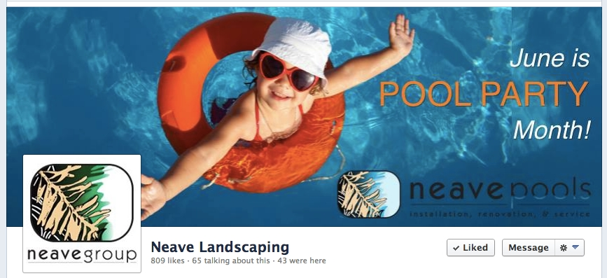 Neave Pools Facebook Page cover