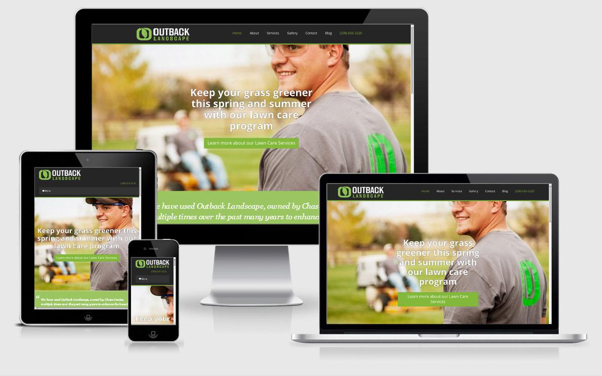 Website for a Landscape Business