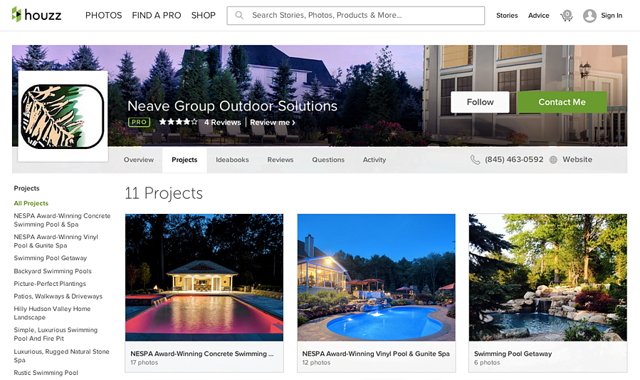 Neave Group advertising on Houzz