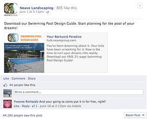 facebook advertising neave pools2