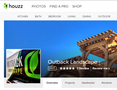 Outback Landscaping Houzz Profile for Landscape Marketing