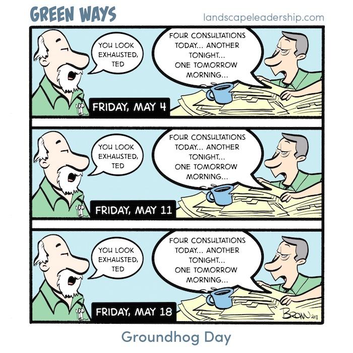 Groundhog Dog Green Ways Comic