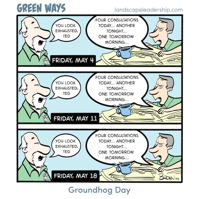 Groundhog Dog Green Ways Comic