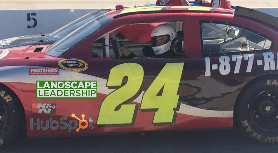 How marketing a landscaping business is like winning a race.