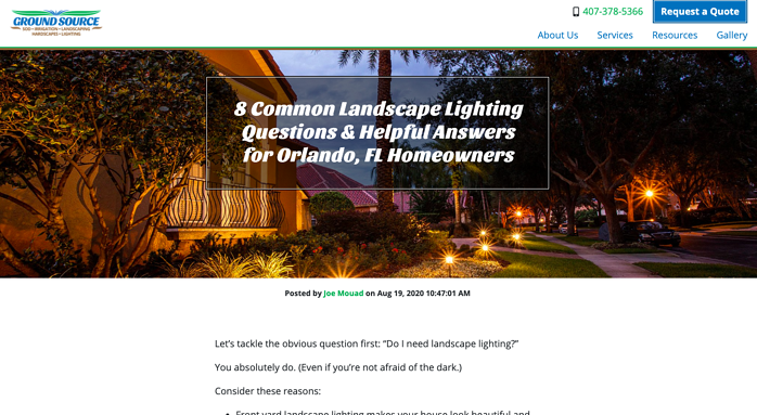 Ground Source Landscaping blog article