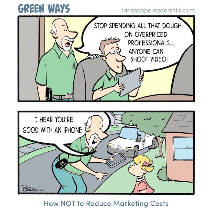 Green Ways comic cost of video