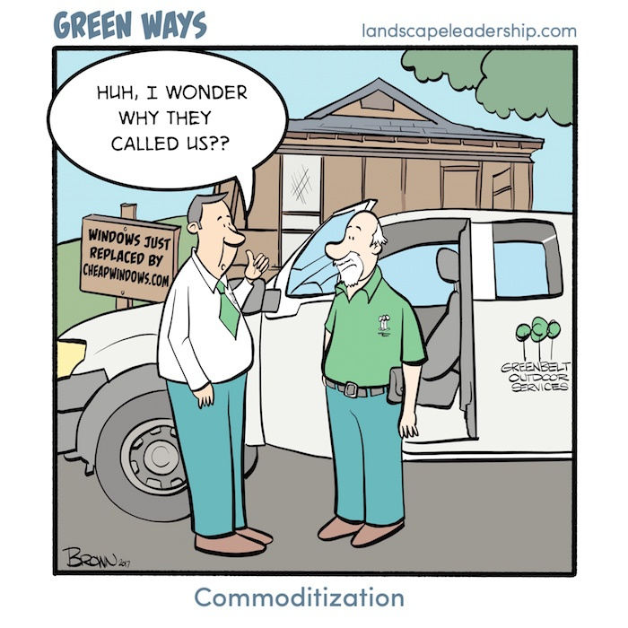 Commoditization in the lawn and landscape industry