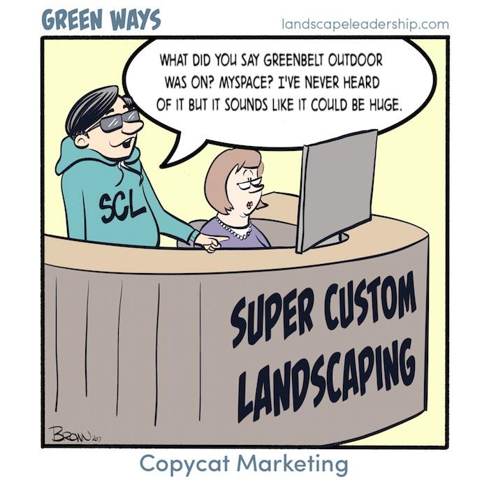 Green Ways comic Copycat Marketing