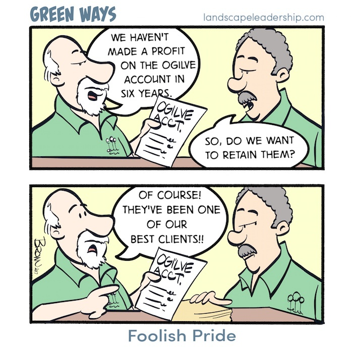 Green Ways comic Foolish Pride