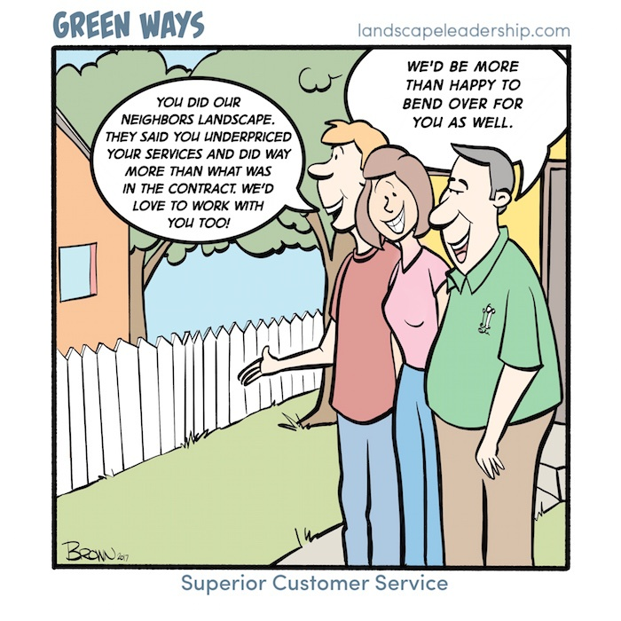 Superior Customer Service, Green Ways comic
