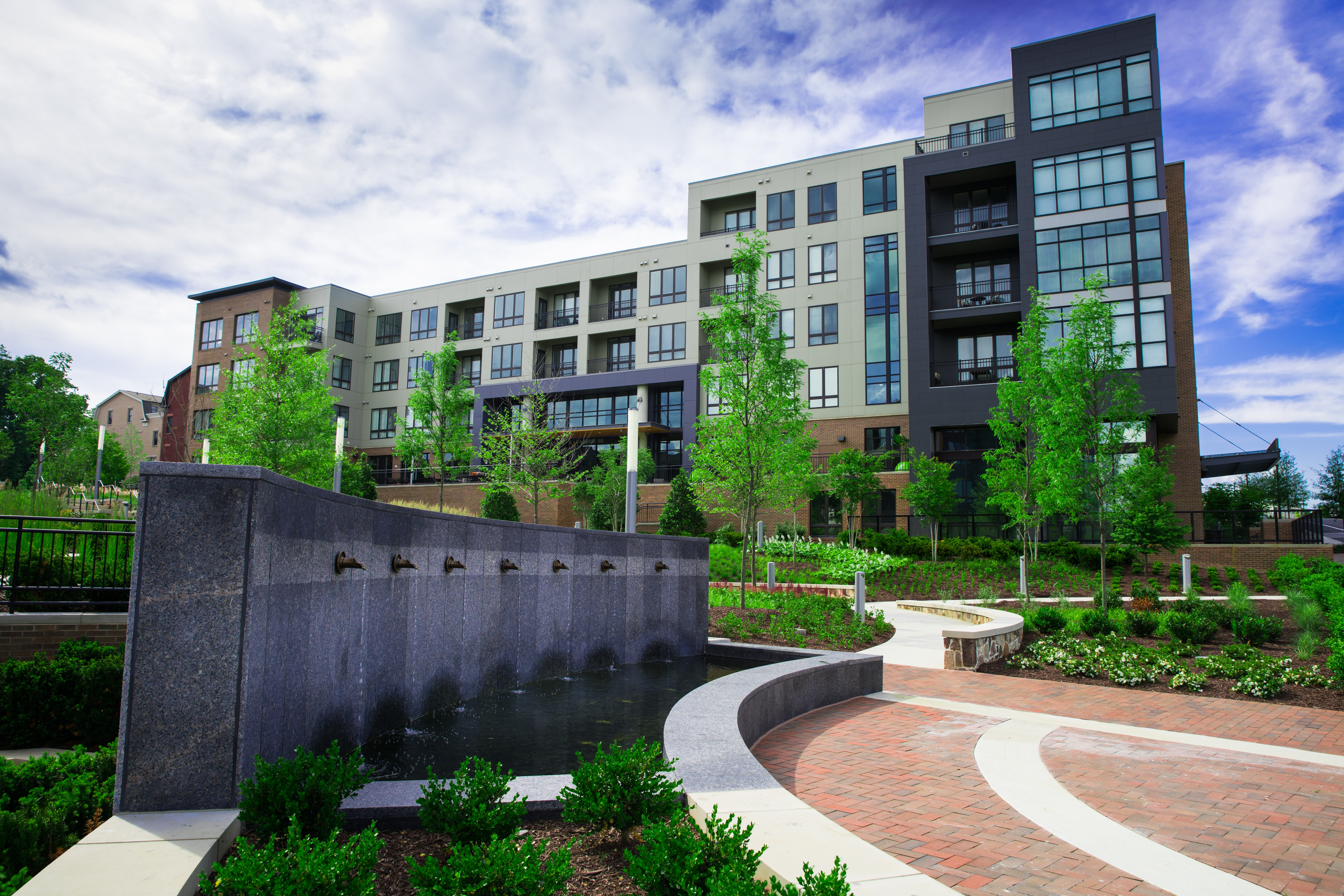 Using professional photography in marketing landscaping services.