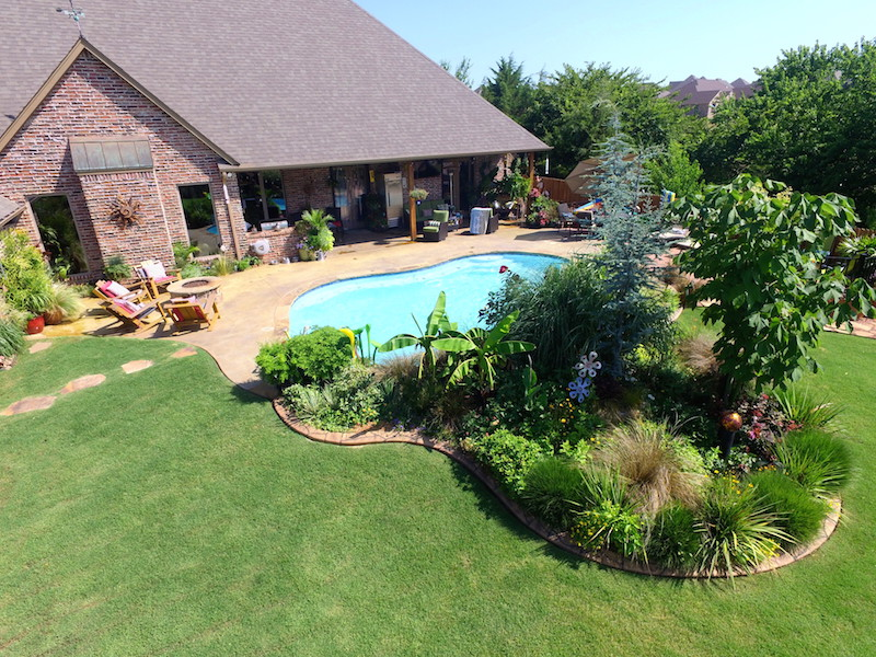 Landscaping photography and video by Oklahoma Drone Photography