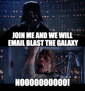 email blast the galaxy