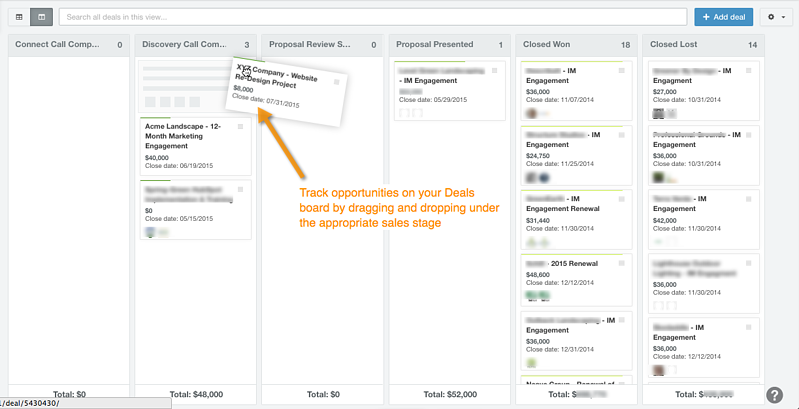 Sales tracking with HubSpot Deals and CRM