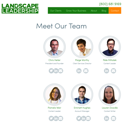 Landscape Leadership Meet Our Team page