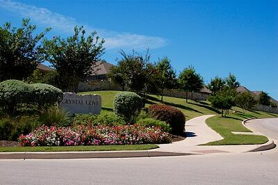 Homeowners Association landscape and property managed by Native Land Design in Texas