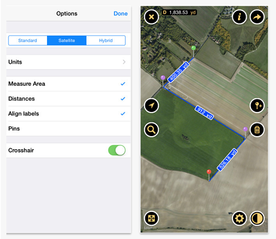 Planimeter mobile app for lawn care and landscaping