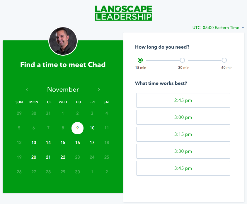 Use a meetings tool to sell more landscaping or lawn care services.
