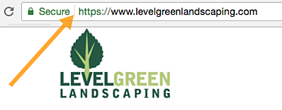 Level Green Landscaping with a secure SSL website
