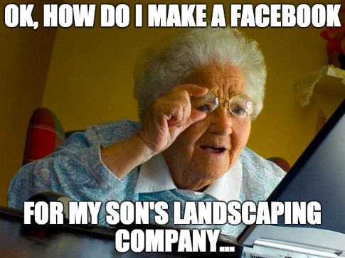 social media for lawn care or landscaping