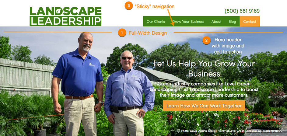 Web design trends for landscaping and lawn care websites