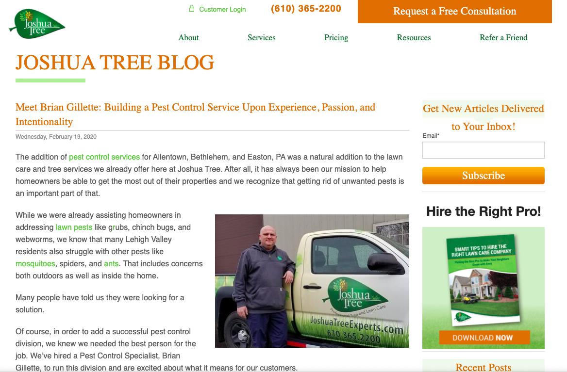 Joshua Tree hires pest control expert