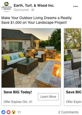 Landscaping Facebook ads