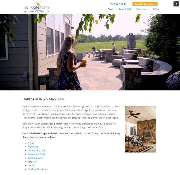 Rock Water Farm patio video