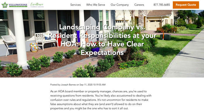 Yellowstone Landscape HOA landscaping article
