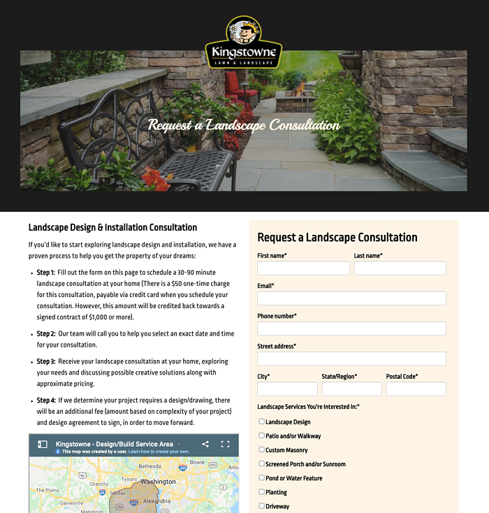 kingstowne lawn and landscape design consultation