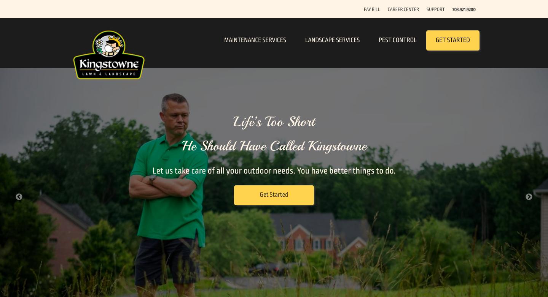 kingstowne lawn and landscape pest control menu