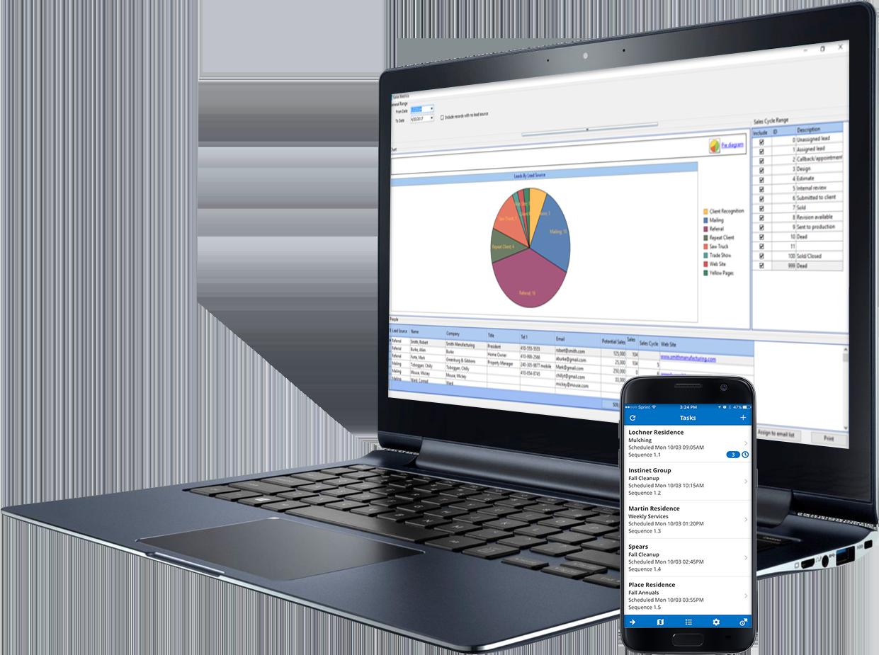 Landscape business software