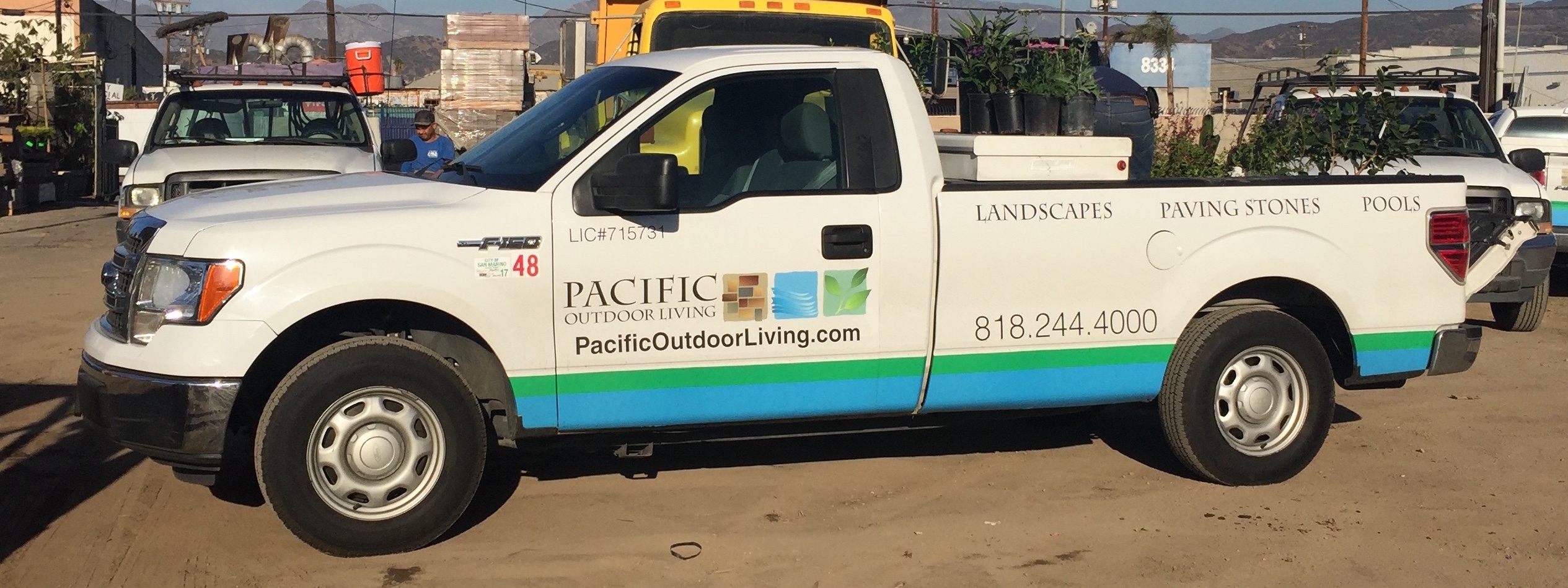 Even partial wrapping of landscaping and lawn care trucks gets advertising impressions.