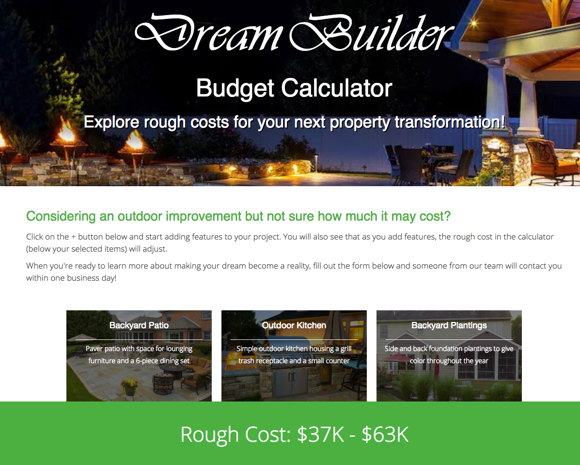 landscaping cost calculator