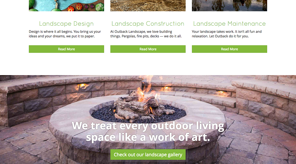 Outback Landscape gives links to galleries on their website homepage.