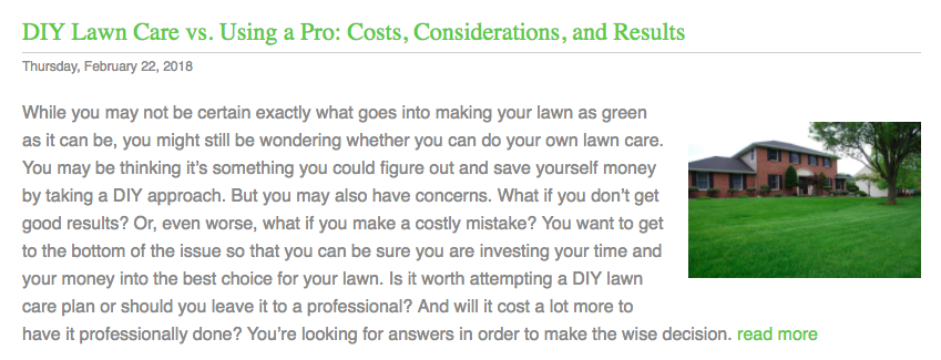 lawn care pricing articles