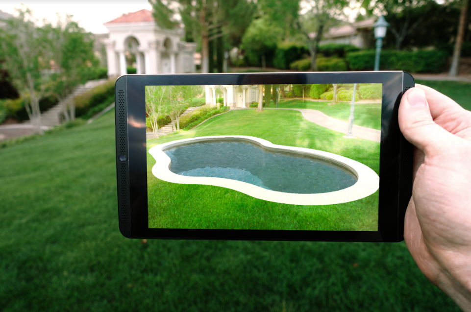 Augmented reality landscape design software from Structure Studios
