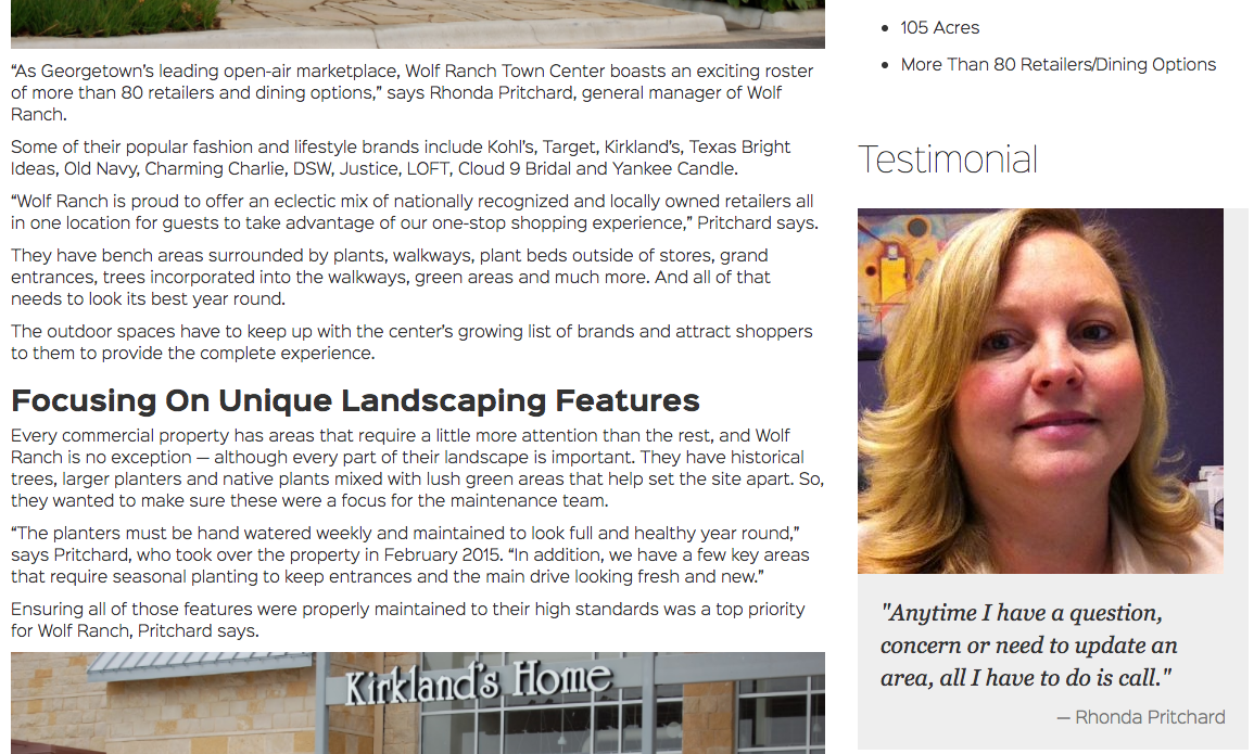 Using testimonials in marketing your landscaping company.